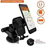 BIPM One Touch Car Mobile Holder - Premium Universal Car Mount and Mobile Holder for Car Dashboard, Car Windshield, Home & Office Table/Desk for Smartphones with Multi Angle Adjustable & 360° Rotation