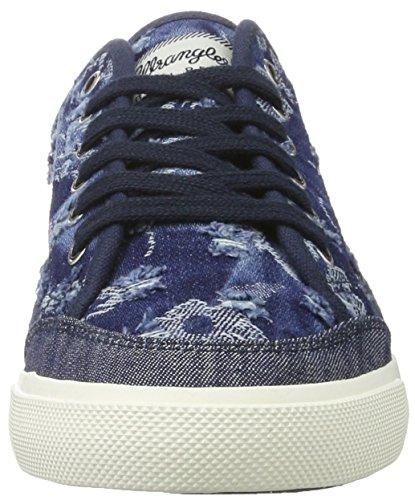 Blau Sneakers Damen DENIM Starry Wrangler Starry Blau Share Sneakers Share Damen Wrangler FLOWERS qa4pWgq1