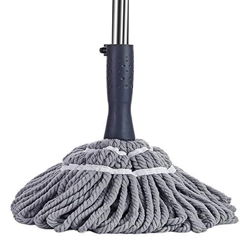HUIHUAN Lazy Mop Twist Mop aus Mikrofaser Handfreies Waschen Bodenreinigung Staubmopps und Kehrmaschine mit einstellbarer Länge Abnehmbares, waschbares Kopf-Ersatz-Absorptionsmittel