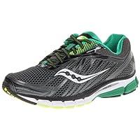 Saucony Men's Ride 6 Running Shoe,Grey/Green/Citron,9 W US