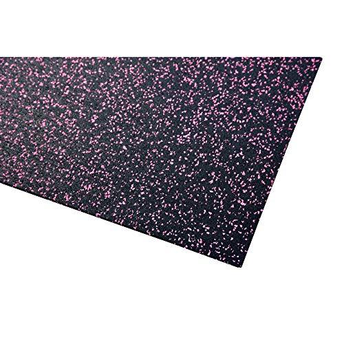 acerto 40472 Unterlegmatte für Fitnessgeräte * Unterlage 70x125cm (4mm) * pink * Robuster Fußbodenschutz * rutschfest & Schalldämmend - Boden-Schutzmatte Fitness-Raum Bodenbelag - Sportgeräte