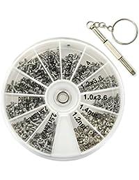 b1b322121a1072 Ezakka 1000 pièces Tiny Vis Écrou Assortiment kit Outil de réparation avec  micro Tournevis pour lunettes
