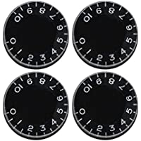 rosenice 4pcs botones de Control de velocidad Mandos de tono de volumen de repuesto para Gibson Les Paul reemplazo guitarra eléctrica (negro)