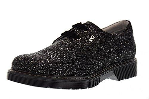 NERO GIARDINI Junior Chaussures lacées A732550F / 100 ARGENT NOIR (31/34)
