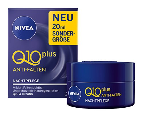 Nivea Q10 Plus Anti-Falten Nachtpflege, 3er Pack (3 x 20 ml)