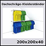 200x200x40 DACHSCHRÄGE KLEIDERSTÄNDER WANDSTÄNDER WANDREGAL TEXTILSTÄNDER-P200D