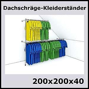 200x200x40 dachschr ge kleiderst nder wandst nder wandregal textilst nder garderobe. Black Bedroom Furniture Sets. Home Design Ideas