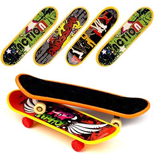 BAKHK 18 Stück professionelle Mini Fingerboards Finger Boards Skateboard Spielzeug(12 normal + 6 eingeschliffen