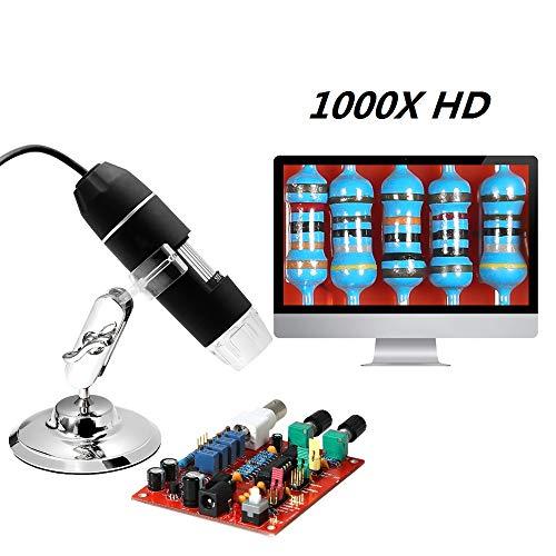 KKmoon USB Digital Digitales Mikroskop Kinder Microscope Kamera 1000 x Vergrößerung Magnification, mit 8-LEDs für Windows
