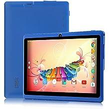 """7"""" Tablet PC Android 6.0, Quad Core, 1024x600, Dual Camera, Wi-Fi, Bluetooth, 1GB/16GB, Google Play Store Netfilix Skype 3D Game Supportato, Certificato GMS Con Garanzia Di Un Anno, iRULU X37-Blu"""
