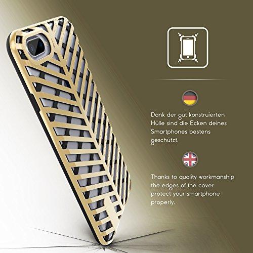 iPhone 7 Plus Coque, Urcover Sword Case Series Étui Apple iPhone 7 Plus Dual Layer TPU Transparent + PC Noir - Bleu Housse Téléphone Smartphone Cover Noir / Or