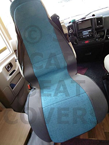 HYMER New Windsor blue motorhome seat MH 526 2 front seat covers