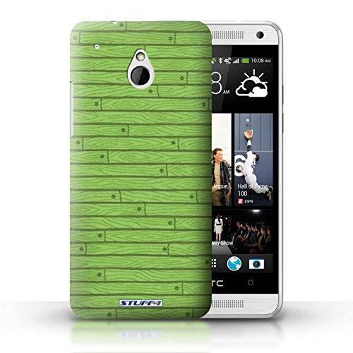 Kobalt® Imprimé Etui / Coque pour HTC One/1 Mini / Beige conception / Série Motif Bois Vert