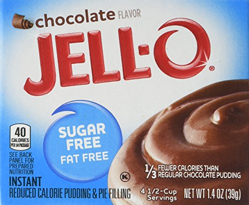 Jell-O Sugar Free Chocolate Pudding 39 g (Pack of 6) Test