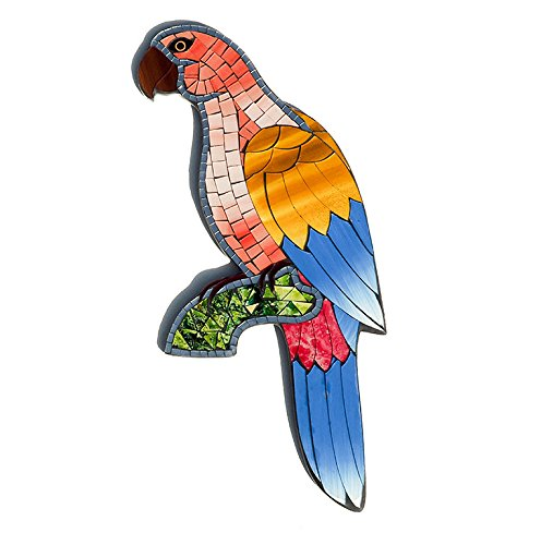 Fair Trade Hand Crafted Mosaic Parrot Wall Art
