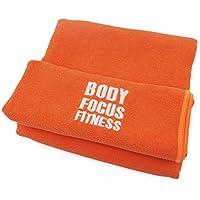 Body Focus Fitness®, toalla de microfibras, secado rápido, extragrande, 183 cm x 61 cm, ideal para gimnasio, viajes, acampada, playa, natación, yoga con calor y pilates