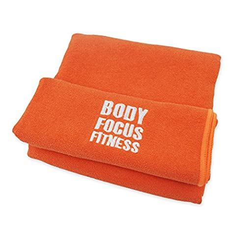 Microfibre Travel Sports Towel - Quick Dry Body Focus Fitness® Gym Towel - X-Large 183cm x 61cm - Great for Travel, Camping, Beach - Perfect for Swimming, Hot Yoga & Pilates