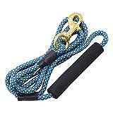AUTULET 0.3inch breit anti-Biss Seil Hundeleine 6ft lange hellblau Nylon mit gepolstertem Griff zum Wandern zu Fuß