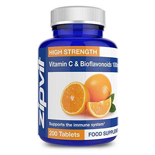 Vitamin C 1000mg with Bioflavonoids   200 Tablets   Supports The Immune System   Contributes to a Reduction in Tiredness and Fatigue