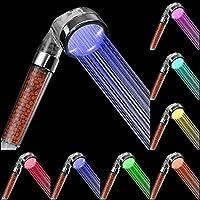 Rovtop Douchette 7 Couleurs Multicolores Automatique de Changement de Couleur Arc-en-Ciel Pommeau de Douche Joie Dans La Salle de Bain