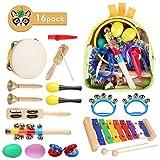 MVPOWER Set de 15pcs de Instrumentos Musicales Set de Percusión para Niños Juguetes Musicales e Infantiles (1c)