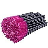 100 Pezzi Pink Makeup Pennelli Monouso Ciglia Spazzole Mascara da Trucco