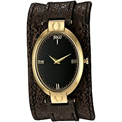 Jivago Women's 'Good luck' Swiss Quartz Stainless Steel Casual Watch, Color:Brown (Model: JV1834)