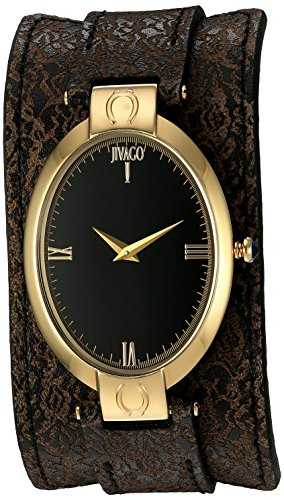 Jivago Women's 'Good luck' Swiss Quartz Stainless Steel Casual Watch, Color:Brown (Model: JV1834)