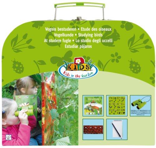 Esschert Kunststoff-Set für Vogelforschung für Kinder - Grün, 32 x 13 x 28 cm