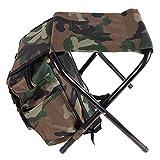 ALWONDER Sac à Dos Pliable pour pêche à la Carpe et pêche à la Carpe Sac à Dos Pliable Chaise de Camping Camouflage Vert armée Camouflage Multifonction
