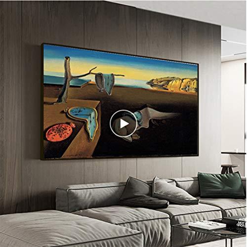 Smhlg Salvador Dali Die Ausdauer Der Erinnerung Uhren Surreal Leinwanddruck Malerei Poster Kunst Wandbilder Für Wohnzimmer Wohnkultur Schlafzimmer 60x90cm