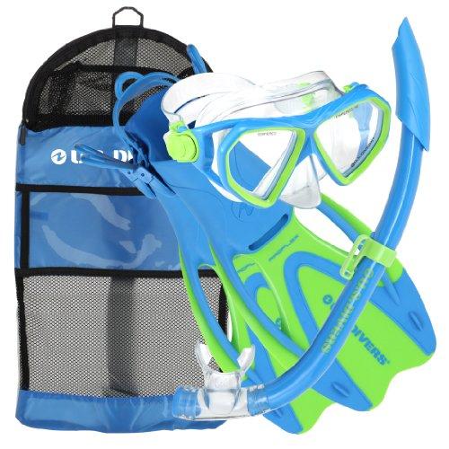 Preisvergleich Produktbild U.S. Taucher Dorado JR Maske Flossen Schnorchelset Fun Blue Small von U.S. Taucher