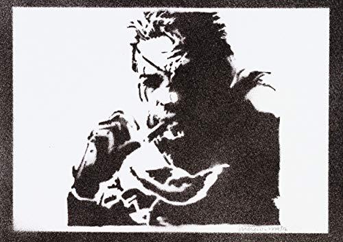 Metal Gear Solid Snake Poster Plakat Handmade Graffiti Street Art - Artwork (Metal Solid Gear Neue)