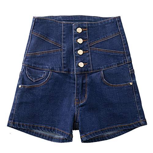 Womens Classic Hohe Taille Mode Sommer Control Butt Lift Denim Dünne Kurze Jeans Hot Pants,Blue,XXXXL Womens Classic Blue Jeans