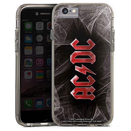 Apple iPhone 6 Bumper Hülle Bumper Case Glitzer Hülle Acdc Logo Merchandise Bumper Case transparent grau