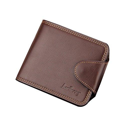 iVotre Kurz Bifold Brieftasche Für Männer Mit Stil - Schließung, Innere Reißverschluss - Tasche Und Münze Tasche, Multi - Card Slots, Straffen Casual Handtasche - Brown brown