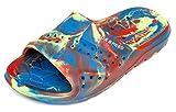 Aqua Speed Badelatschen Für Kinder - Schwimmbadschuhe - Anti-Rutsch-Sohle - Sehr Leicht - #As Patmos, 31 Rot/Blau/Gelb, 31