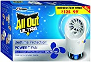 All Out Mosquito Liquid Electric machine with Chip and Refill and Fast, Smart and Turbo Modes - Pack of 2