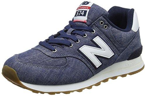 New Balance Herren Ml574v2 Sneaker, Schwarz (Vintage Indigo), 44 EU (Chambray Schuhe)