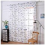 Ouneed® Gardinen , 1 PC Lavendel Tulle Türfenstervorhang drapieren Panel Sheer Schal Volants 180 X 145 CM