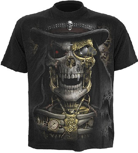 Spiral Steam Punk Reaper T-Shirt schwarz XXL