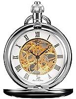 KS KSP007 - Reloj de Bolsillo Unisex Mecánico de Cuerda Manual, Caja Plateada de KS