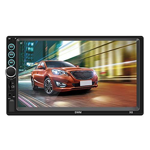 Auto-Spieler, 7-Zoll-HD-Doppelspindel-Auto MP5-Spieler 12V Autoradio Bluetooth-Freisprecheinrichtung Interconnect-Unterstützung TF-Karte AUX U-Platte USB Dvd-interconnect