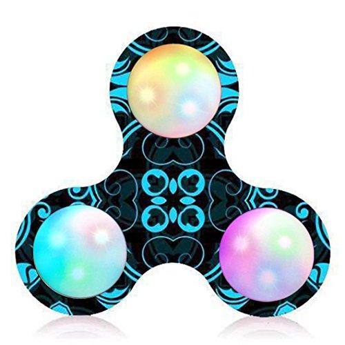 Produktbild Saingace Gericht Muster LED Licht Fidget Hand Spinner Stress Relief Manipulative Spiel Spielzeug