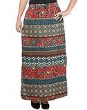 PURYS Printed Long Skirt