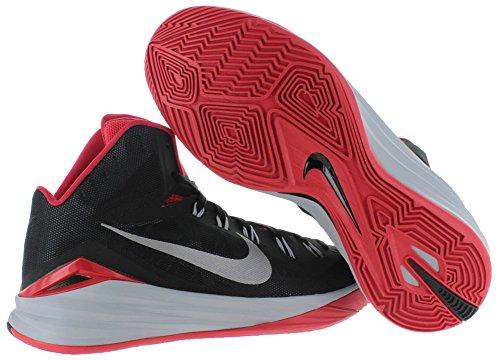 Nike Herren Hyperdunk 2014 Basketballschuhe Verschiedene Farben (Schwarz / Silber / Rot (Blck / SLVR-Unvrsty Mtllc-Wlf Rd))