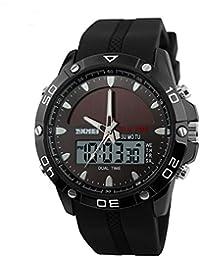 Panegy - Deportivo LED Reloj Digital de Cuarzo Doble Horarios Multifunción Cronómetro Waterproof Watch Para Hombre