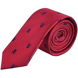Enjoymore El crš¢neo del ancho de los hombres 6CM modelš® corbatas (Wine red)