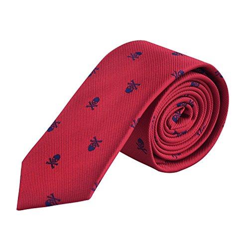 Enjoymore El cr¨¢neo del ancho de los hombres 6CM model¨® corbatas (Wine red)