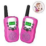 8 canal 2 Way Radio Walkie - talkies 0,5W PMR446 inalámbrica de larga distancia, juguete de los niños gama walkie - talkie para la supervivencia de ciclismo y senderismo, en la luz del flash